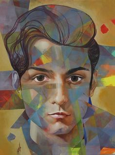 Mr. Dan Albasry 70 x 90 cm Oil on canvas 2016 Artist Firas Albasry