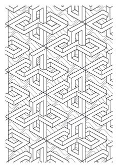 victor vasarely coloring pages | Galerie de coloriages gratuits coloriage-op-art-jean ...