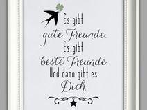 """""""ZUM GLÜCK GIBT ES DICH"""" Kunstdruck Freundin"""