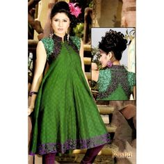 Green Embroidered #LongKurti