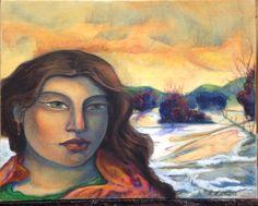 Winter in Taos.   23 x 29.  Oil on canvas.  Miguel Martinez fine arts.com