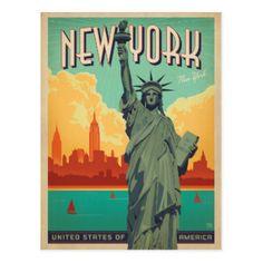 Carte Postale NYC - Madame Liberty