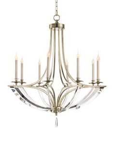 John-Richard Collection Bent Crystal Chandeliers