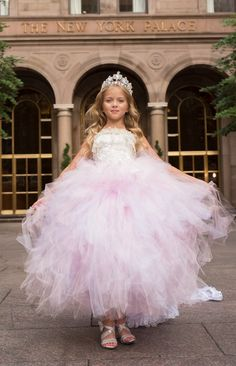 One of our Tutu Princess Style Flower Girl Dresses Kids Pageant Dresses, Ball Dresses, Ball Gowns, Dresses Dresses, Girls Dresses, Cute Flower Girl Dresses, Cute Little Girl Dresses, Flower Girls, Pink Tulle Skirt