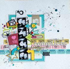 Scrap Kits & Co: Première page de Maska avec le kit de décembre  http://scrapkitsandco.blogspot.fr