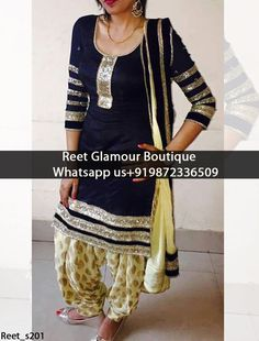 Navy Blue Embroidered Punjabi Suit Product Code : Reet_s201 To order, call/whats app on +919872336509 We offer huge variety of Punjabi Suits, Anarkali Suits, Lehenga Choli, Bridal Suits,Sari, Gowns,etc.We Can also Design any Suit of your Own Design and any Color Combination.