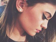 Kylie Jenner's new ear piercing.