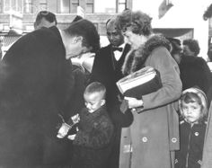 John Kennedy Speaks to Child While Campaigning While on a campaign stop in Superior, John F. Kennedy talks to young Brent Miletich. | Location: Superior, Wisconsin, USA.  Date March 01, 1960✾❤✾❤❁❤❃❤❁❤❁❤❁ http://en.wikipedia.org/wiki/John_F._Kennedy