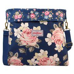 Richmond Rose Reversible Folded Messenger Bag   Cross Body Bags   CathKidston