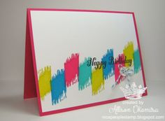nice people STAMP!: UNDEFINED - Hand Carved Ikat Stamp for a Simple Birthday Card - Stampin' Up! by Allison Okamitsu
