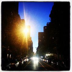 Upper East Side at dusk