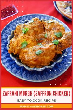 Zaffrani Chicken is a popular Mughlai dish that is loaded with rich flavors and aromatic spices. Try out this easy nut-free recipe. #ChickenRecipe #IndianRecipe #Mughlai Asian Noodle Recipes, Asian Chicken Recipes, Asian Dinner Recipes, Easy Asian Recipes, Indian Food Recipes, Ethnic Recipes, Murgh Masala, Saffron Chicken, Chicken Masala