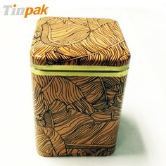 Elegant printing for this herbal tea tin can is customized.