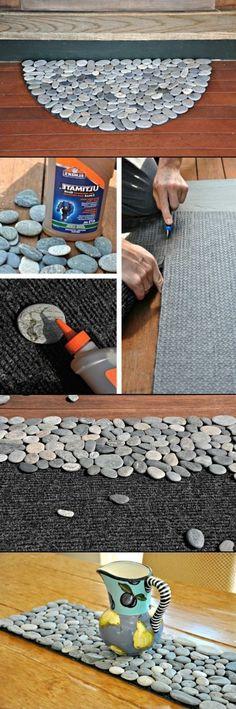 DIY Rock Doormat and Rock Projects