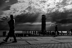 The lighthouse at the lake Neusiedler See, Podersdorf. Black And White Photography, Lighthouse, Street Photography, Documentaries, Christian, Black White Photography, Bell Rock Lighthouse, Light House, Lighthouses