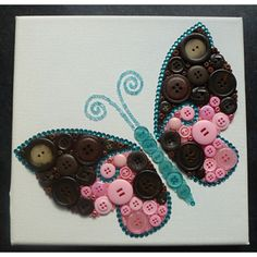 Brown and Pink Butterfly