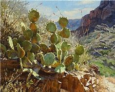 Window Cactus by Mark Haworth Oil ~ 16 x 20