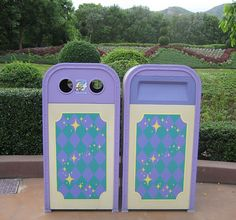 There aren't many Disney theme parks that offer this scenic backdrop for their trash cans!