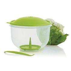Tupperware Super Crisp It® Container - Tupperware Lettuce Keeper Container - Includes a lettuce corer, domed seal and perforated core insert to ensure a fresh head of lettuce. Tupperware Consultant, Tupperware Recipes, Head Of Lettuce, Summer Snacks, Salsa Verde, Good Ole, Kitchen Gadgets, Crisp, Dishes