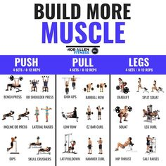 13 Push Pull Workout Routine Ideas Push Pull Workout Workout Routine Workout