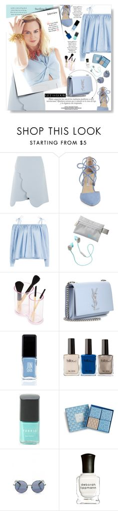 """""""BLUE: Nicole Kidman"""" by ghdesigns-official ❤ liked on Polyvore featuring Carven, Kristin Cavallari, Tiffany & Co., Sandy Liang, Athleta, Forever 21, Yves Saint Laurent, JINsoon, Torrid and Vera Bradley"""