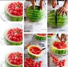 A cool way of serving watermelon :)