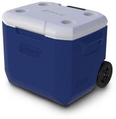 Coleman 60-Quart Wheeled Plastic BPA-Free Ice Cooler Food Drink Storage Chest #Coleman