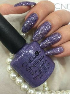 50 Reasons Shellac Nail Design Is The Manicure You Need in 2019 No Holds Barred Purple Glitter Shellac Nail Colors, Shellac Manicure, Pink Nails, Cnd Colours, Creative Nail Designs, Creative Nails, Gomme Laque, Shellac Nail Designs, Gel Nails French