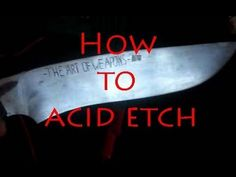 How To Acid Etch Metal With Vinegar - The Art Of Weapons