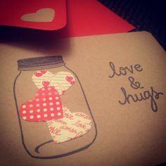 Tarjetas DIY de San Valentín.