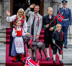 The Crown Prince family at Skaugum, Asker. 17 Mai #Norway ☮k☮ #Norge