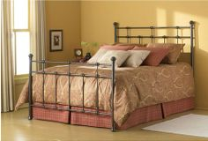 Bed Frame I want from Dexter Iron Bed in Hammered Brown by Fashion Bed Group Queen Headboard, Headboard And Footboard, Full Headboard, Bed Headboards, Metal Headboards, Brown Headboard, Headboard Ideas, Furniture Outlet, Bedroom Furniture