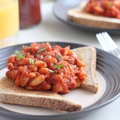Homemade vegetarian baked beans