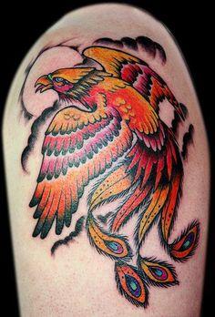 Bright Phoenix Arm Tattoo ~ Arm Tattoo Ideas #42