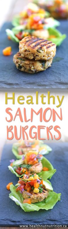 The BEST Healthy Salmon Burgers! GF & DF