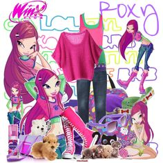 Winx Club Roxy Dress | fashion look from July 2011 featuring Kai sweaters, Dotti tops and ...