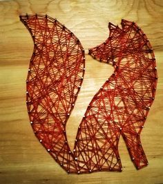 Easy string art fox for beginers