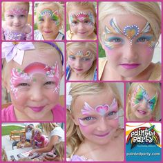 Beautiful face painting designs by Denise Cold Princess Face Painting, Girl Face Painting, Belly Painting, Face Painting Designs, Painting For Kids, Paint Designs, Face Paintings, Mask Face Paint, Face Paint Makeup