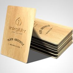 #Wooden #BusinessCards from @inkgility