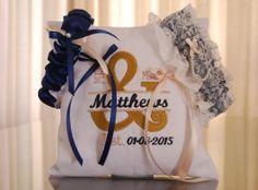 DSC_1619 Ring Pillows, Garter Set, Wedding Garter, Custom Design, Ring Bearer Pillows