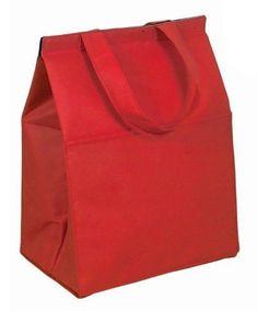 "Non Woven Insulated Grocery Lunch Bag Cooler, Red by BAGS FOR LESSTM by Bags For Less. $6.98. Full-length top Velcro closure. Red, Non woven 100 gram polypropylene 10"" W x 14"" H x 7.25"" DRed. Two self-material handles, Front slash pocket. Drop in an ice pack (not included) and keep your drinks and food cold. Perfect for taking frozen products home from grocery store. BAGS FOR LESSTM   This  Insulated Lunch Bag has quality features which help separate them from the aver..."