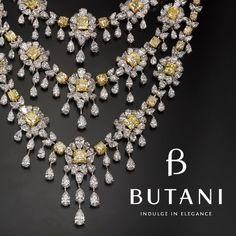 Drape in diamonds and indulge in Royal Elegance #Butani #ButaniJewellery #Diamonds #JewelleryArabia