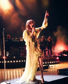Florence Welch performing last night in Mansfield, Massachusetts