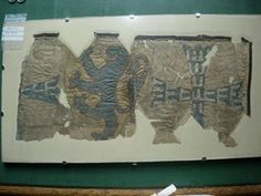 Fragments are kept in the British Museum, London (acc. of a linen bag decorated with appliqué and silk embroidery. Medieval Embroidery, Tablet Weaving, Blue Lion, Blue Cross, King Henry, Linen Bag, British Museum, Applique, Middle Ages