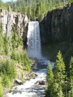 Tumalo falls, bend oregon