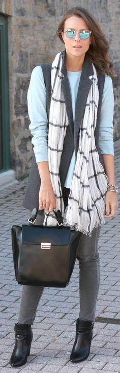 Grey Maxi Wool Vest #Penny Pincher Fashion