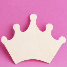 Unfinished Wood Princess Crown Cutout - Wood Cutouts - Unfinished Wood - Craft Supplies