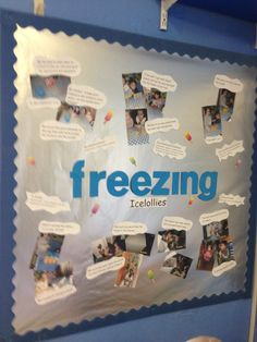 Display all about freezing icelollies with the help of the children!