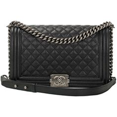 Chanel Black Caviar New Medium Boy Bag (21.525 BRL) ❤ liked on Polyvore featuring bags, handbags, chanel, purses, bolsas, handbags and purses, man bag, hand bags, purse bag and handbags purses