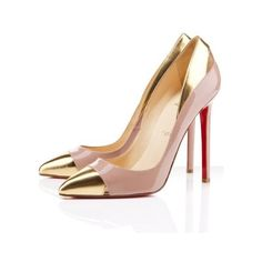 Christian Louboutin Duvette 120mm Nude Pumps ($179) ❤ liked on Polyvore